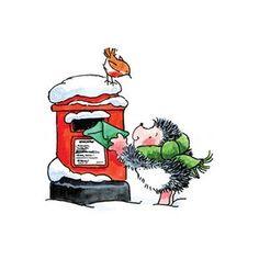 Sending out a Christmas card?  (Penny Black, Inc.) Xmas Drawing, Christmas Drawing, Christmas Art, Hedgehog Illustration, Christmas Illustration, Penny Black Cards, Christmas Topper, Hedgehog Art, Whimsical Christmas