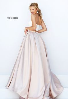 2016 New Two Pieces Embroidery Prom Dress Sherri Hill 50219 in white this skirt would be perfection