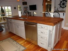 Wood Islands, Kitchen Island, Home Decor, Island Kitchen, Decoration Home, Room Decor, Home Interior Design, Home Decoration, Interior Design