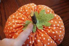 Fabric pumpkin