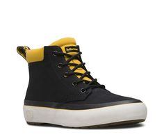 Dr. Martens Women's Allana Fashion Boots, Black, Canvas, Rubber, 6 M UK, 8 M US