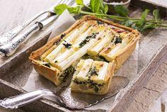 #Tarta  salada de Espárragos y #Queso #receta