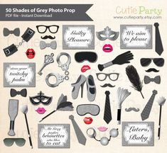 Make your party much more fun and memorable with these photo booth prop.    INSTANT DOWNLOAD  Once payment is confirmed, you will receive and email