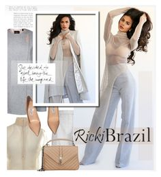 """""""RickiBrazil.com: She decided to start living the life she imagined."""" by hamaly ❤ liked on Polyvore featuring Carven, COS, Ted Baker, Jimmy Choo, Yves Saint Laurent, ootd, pants, cape and rickibrazil"""