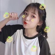 Korean Make Up, Cute Korean Girl, Cute Asian Girls, Cute Girls, Cool Girl, Uzzlang Girl, Girl Day, Girl Emoji, Perfect Selfie