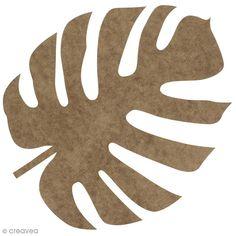 Feuille voyageur Monstera en bois à décorer - 30 cm