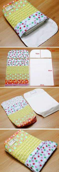 DIY Tutorial for super easy and useful Diaper Pouch  or Bag  http://www.handmadiya.com/2016/06/diaper-pouch-tutorial.html