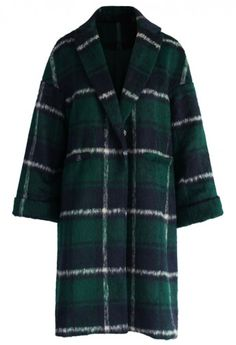 My Chic Plaids Wool-blend Coat