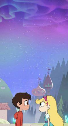 Star y Marco Disney Phone Wallpaper, Wallpaper Iphone Cute, Iphone Wallpapers, Cute Cartoon Wallpapers, Cartoon Pics, Starco Comic, Bd Art, Star Y Marco, Princess Star