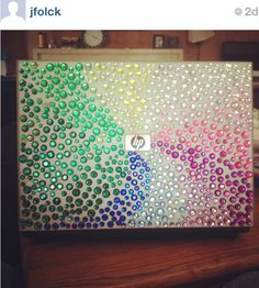 Bedazzled HP laptop.