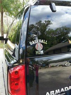 Baseball Batter Silhouette Custom Name Vinyl Decal For Car Truck - Custom car bling decals