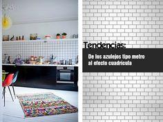 Tendencia: De los azulejos tipo metro al efecto cuadrícula