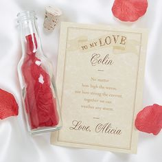 Send the one you love a message in the To My Love Letter In A Bottle. Choose from 7 verses or write your own message to be inscribed on parchment paper with heart graphics, then rolled, tied with a red ribbon, corked, and ready to set sail. Romantic Things To Do, Romantic Gifts, Love Valentines, Valentine Day Gifts, Cute I Love You, Heart Graphics, Personalized Valentine's Day Gifts, Red Rose Petals, Love Coupons