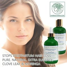 HAIR GROWTH Scalp Botanical Stimulating Formula Clove Leaf & Moringa stops postpartum hair loss, promotes growth, balances scalp💚💚 Thinning Hair? Clove Leaf Moringa Hair Growth Botanical System stops hair loss. 20% OFF with 20EXTRA www.HairBodyMind.com 💚 Effective Botanical Hair Recovery System💚 Eugenol, the active ingredient in Clove Leaf Essential Oil has been demonstrated to reduce hair loss, stimulate hair growth and return dormant hair follicles back to hair production. Eugenol is…