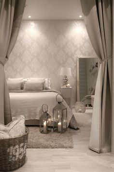 Gorgeous Bedroom Ideas, From sweet to captivating decor styling strategies. For extra superb room styling information please press the link to study the post idea 2536294303 now. Home Decor Bedroom, Living Room Decor, Bedroom Ideas, Bedroom Designs, Luxury Decor, Bedroom Lighting, Luxurious Bedrooms, Beautiful Bedrooms, House Rooms