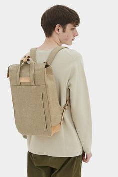 Handle Backpack Raw Natural