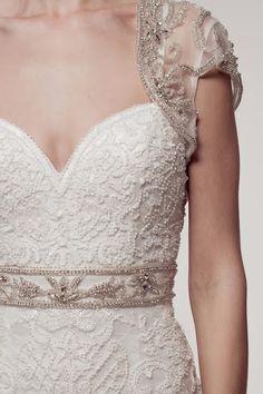 KCW1544 Art Deco Wedding Dress with Bolero by Kari Chang Eternal