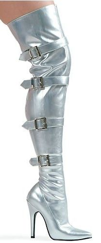 <3Silver High Boots
