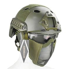 Brand: JadedragonColor: GreenFeatures: Package includes: Fast Helmet, Foldable mask, 1 XTactical Goggle, A set of accessories Helmet Lightweight But Durable, High Quality Construction for Hea. Tactical Helmet, Airsoft Helmet, Taktischer Helm, Fast Helmet, Body Armor, Sport, Mask Making, Green Colors, Easy