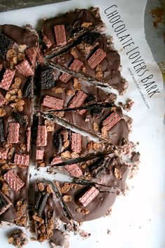 chocOlate lovers chocolate bark