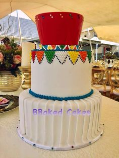 Zulu Traditional Wedding, Traditional Cakes, Traditional Dresses, Zulu Wedding, Tribal Wedding, Creative Cake Decorating, Creative Cakes, African Wedding Cakes, African Weddings