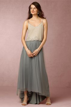 BHLDN Carrie Top & Petal Skirt in  Bridesmaids View All Dresses at BHLDN
