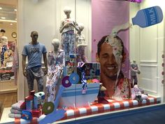 Love the window display of the new Vintage Kellogg's Collection at Peter Alexander.