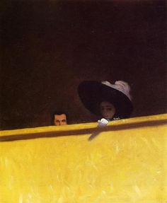 Félix Vallotton: La loge de théatre, le monsieur et la dame, 1909.    SOURCE : brazenswing