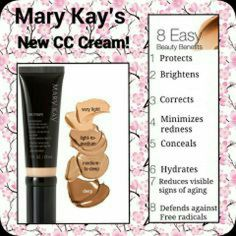 Mary Kay® CC Cream Sunscreen Broad Spectrum SPF 15 - Get easy complexion correction with a formula that acts like makeup and is formulated like skin care. Mary Kay Party, Mary Kay Liquid Foundation, Makeup Foundation, Spa Facial, Facial Cleanser, Moisturizer, Mary Kay Ash, Mary Kay Cosmetics, Maquillage Mary Kay