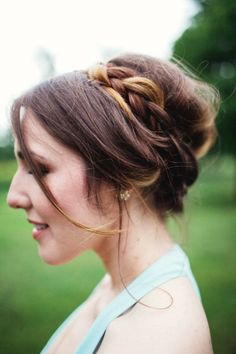 Cute updo with. more braids. Popular Hairstyles, Trendy Hairstyles, Braided Hairstyles, Wedding Hairstyles, Bridal Hairstyle, Updo Styles, Hair Styles 2014, Bridesmaid Hair, Bridesmaid Ideas
