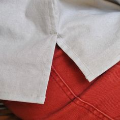 Handmade by Carolyn: Lapped flat-felled split side seam tutorial