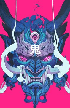 Oni Mask 01, Chun Lo on ArtStation at https://www.artstation.com/artwork/gn3wZ