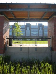 Terrace overlooking a bioswales at Durham College, Oshawa, Canada. Click image for link to full profile and visit the slowottawa.ca boards >> https://www.pinterest.com/slowottawa/