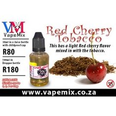 eJuice Bar - Craft Juice - Red Cherry Tabacco