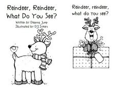 Reindeer and Reindeer book freebie