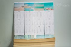 Calendar Bookmarks Beach Theme Set of 2 #bookmarks #gift #xmas #holiday #beach