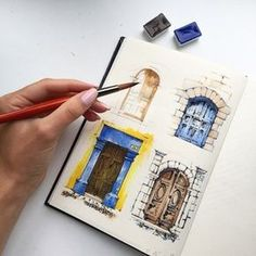 Drawings of doors. Architectural detail, sketch. Sketchbook. My architecture drawings, travel sketches. More find here: http://www.olgaart888.com Architecture drawing, illustrations, architecture sketches made with pencil, marker, watercolor.  Sketching, presentation, building, tutorial, art, design, landscape, hand rendering, techniques, texture, shadows.  My Markers: Copic, Promarker, Chartpak, Stylefile markers Hand Renderer: Olga Sorokina