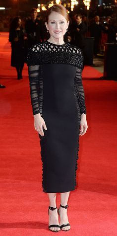 Look of the Day - November 11, 2014 - Julianne Moore in Balenciaga from #InStyle