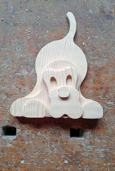 """1207 """"BUCK"""" cagnolino in legno di abete massiccio,   realizzato da LegnoAnimato"""