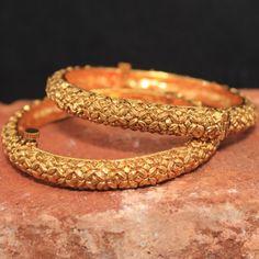 Gold kada. Bridal bangles.