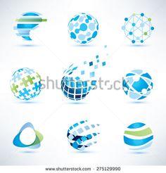 Abstract globe symbol set, communication and technology icons. Internet and soci… Abstract globe symbol set, communication and technology icons. Unique Logo, Cool Logo, Logos, Typography Logo, Globus Logo, Earth Logo, Geometric Logo, Abstract Logo, Logo Samples