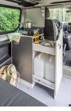 Kitchen Module For VW With Spirit Cooker Camping Hacks Camper muzzikum info Vw T3 Camper, Vw Caravan, Sprinter Camper, Mini Camper, Camper Trailers, Caravan Hacks, Vw T5 Campervan, Mini Caravan, Caravan Ideas