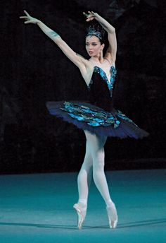 Russian ballet dancer, Diana Vishneva, performs as Odile with the Mariinsky Ballet. .