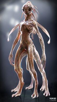 Female alien concept art science fiction 25 ideas for 2019 Humanoid Creatures, Alien Creatures, Fantasy Creatures, Mythical Creatures, Zbrush, Arte Alien, Alien Art, Alien Concept Art, Creature Concept Art
