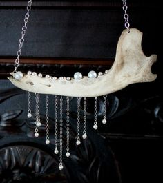 Coyote Jaw Bone Necklace by RockinEars on Etsy