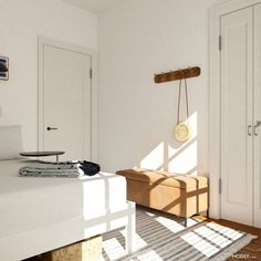Design Ideas for a tiny bedroom space! Small Space Design, Small Space Living, Small Spaces, Living Spaces, Small Apartment Furniture, Small Furniture, Bedroom Layouts, Contemporary Bedroom, House Design