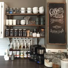 home coffee bar! How perfect is this setup?! ☕️ love love love...