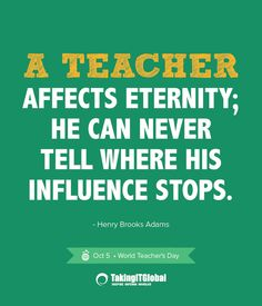 Happy World Teacher's Day to ALL of the fabulous educators I am fortunate to know, work with, and love! PS: Feel free to switch out the he for she and his for her!!!