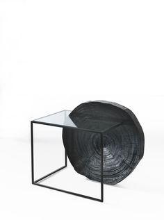 Marlow - Side Table - Vernicemogano for Durame