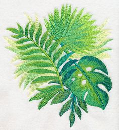 Tropical Leaves in Watercolor 3